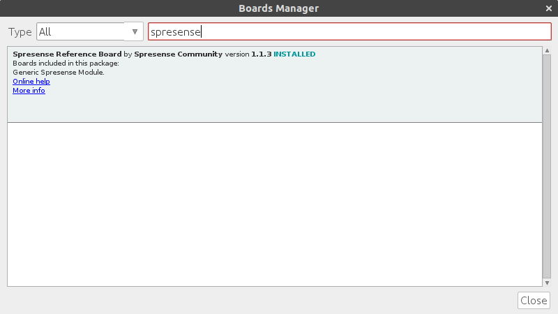 Arduino IDE - Boards Manager