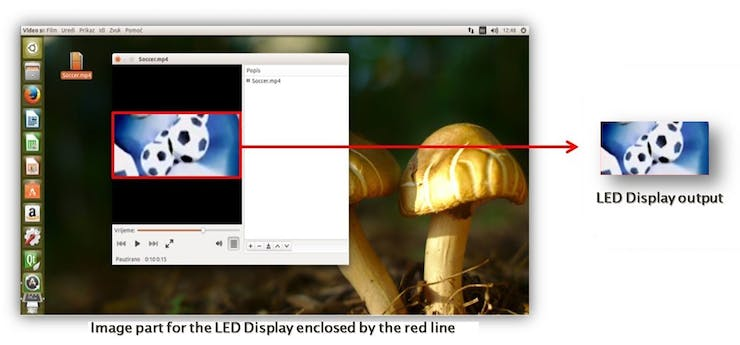 Figure 3: Selection and Cropping of the Image Part for the LED Display