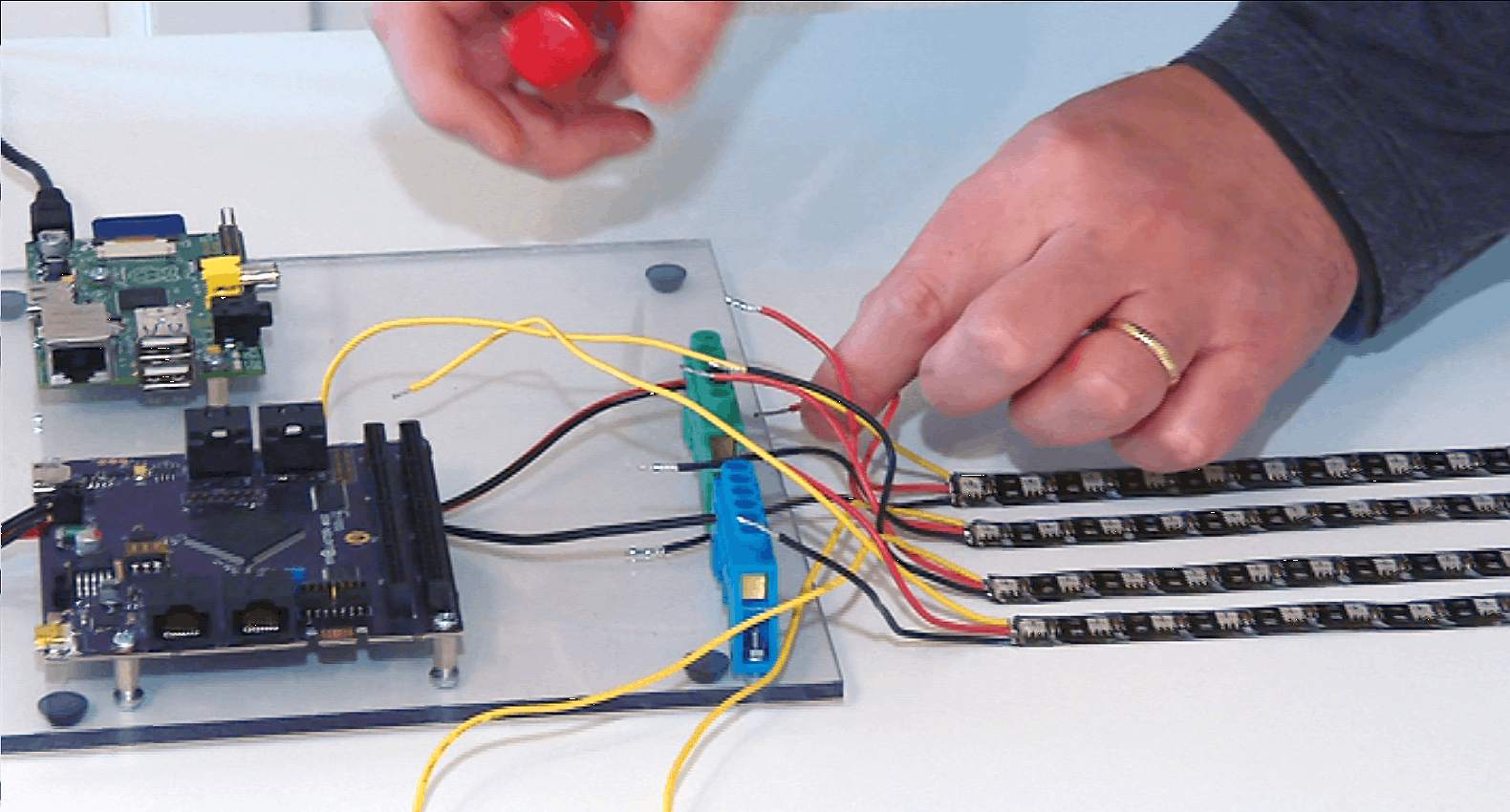 Figure 5: Example Wiring Terminal Blocks for Power Distribution