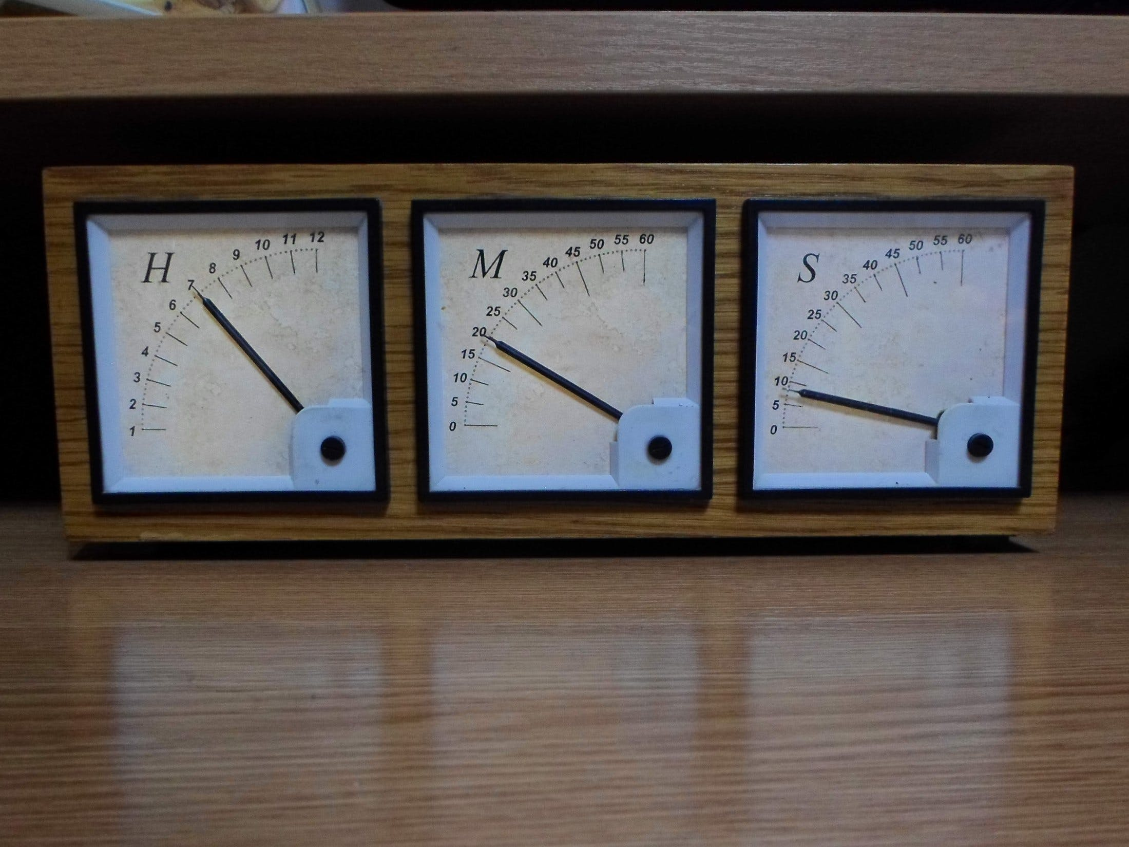 Arduino Analog Panel Meter Clock