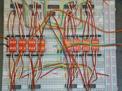 DIP/DIL Switch-Based 8-Byte ROM via Daisy-Chained 4051 MUXs
