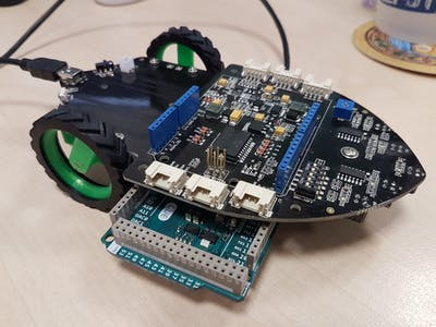 Autonomous Line Follower with Seeed Shield Bot 1.2 and ARTe