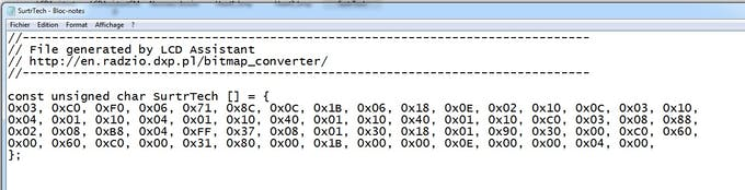 Copy this and put it in your code, add PROGMEM to put it in the Arduino Flash and save some space