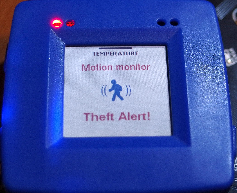 Motion detected - Theft Alert!