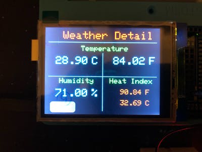 Weather Station: General & Detail Screen
