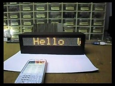 Arduino Bluetooth-Controlled Matrix with Scrolling Text
