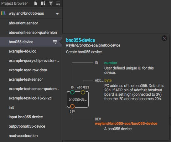 Invoking help for a node in the project browser.