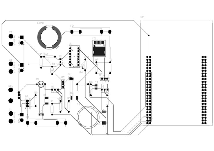 PCB 2D developed CircuitMaker