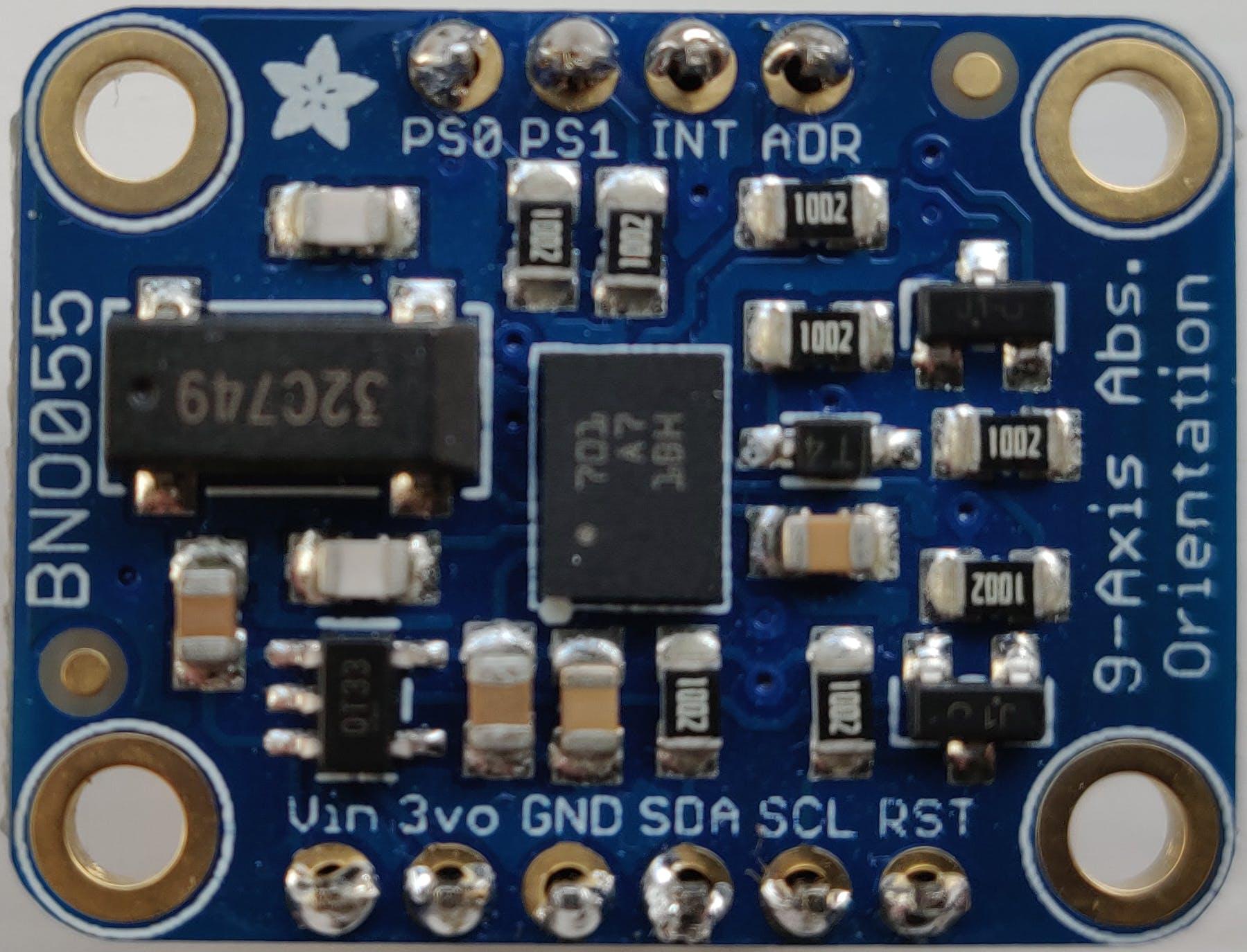 Adafruit breakout board for the Bosch BNO055 absolute orientation sensor