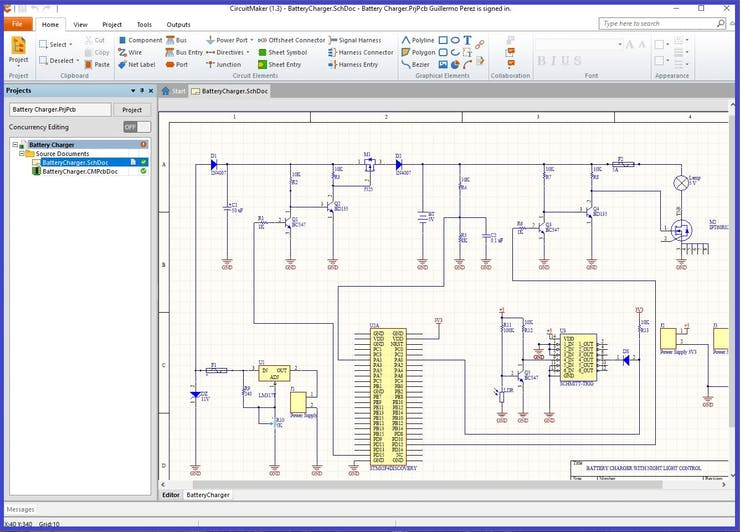 Designing a schematic diagram and the PCB board