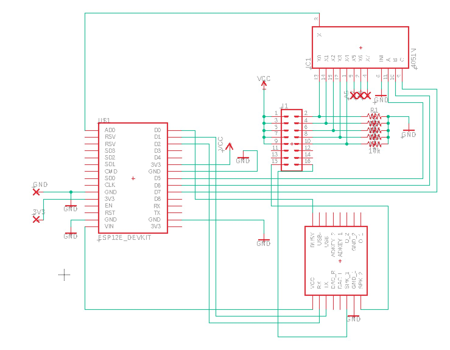 Schematic Of The PCB