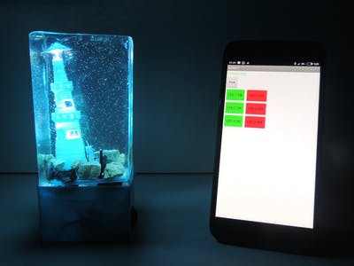 Night Lamp Using Arduino & Epoxy Resin