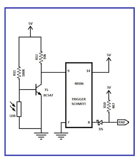 Circuit diagram of the night light control