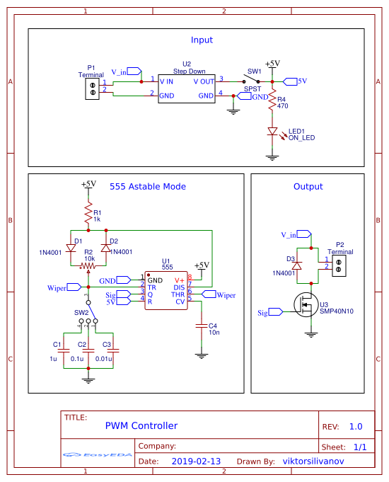 PWM Controller Using 555 Timer - ster.io on