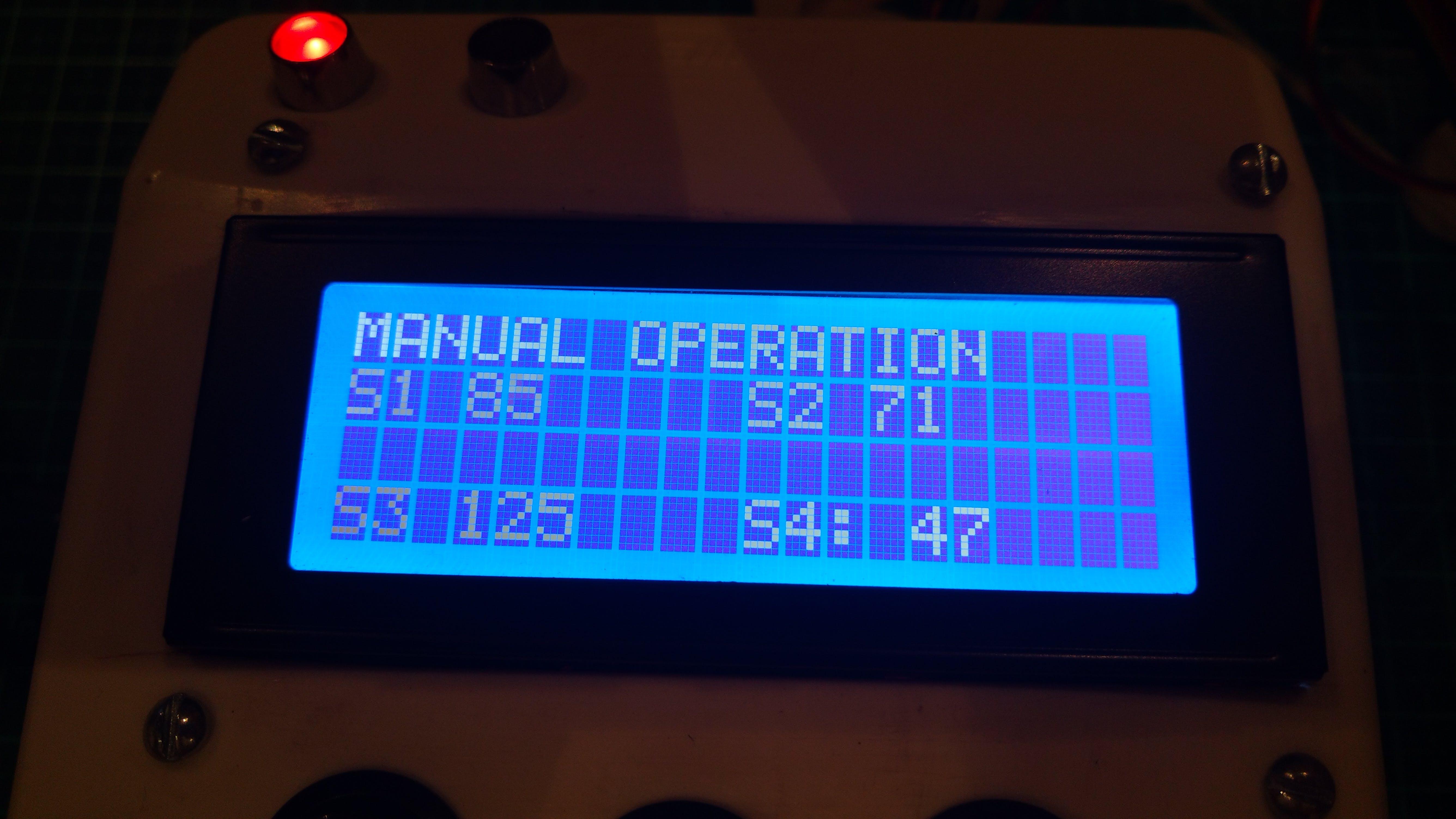 Manul Mode Screen