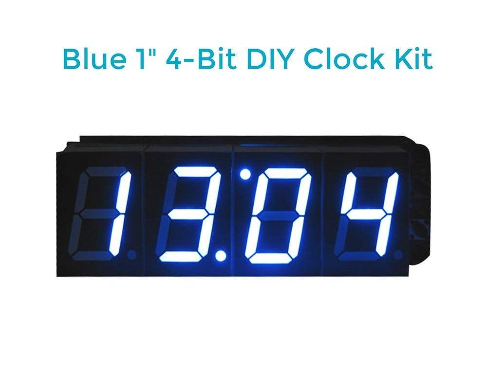 Soldering 1-Inch 4-Bit Digital Alarm Clock DIY Kit
