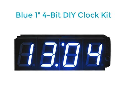 Soldering 1-Inch 4-Bit Digital Alarm Clock DIY Kit