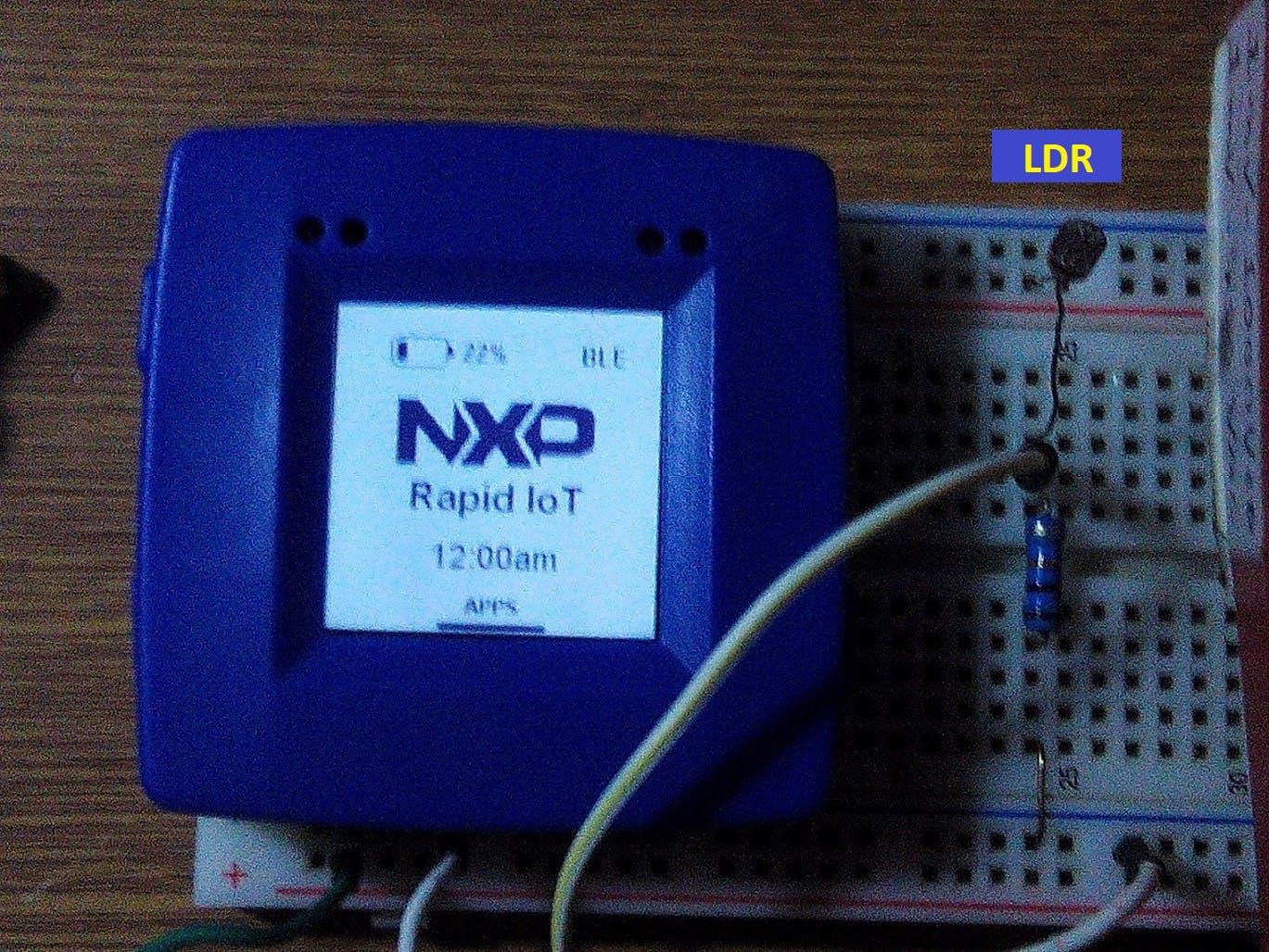 Using a NXP Rapid IoT as lighting calibrator