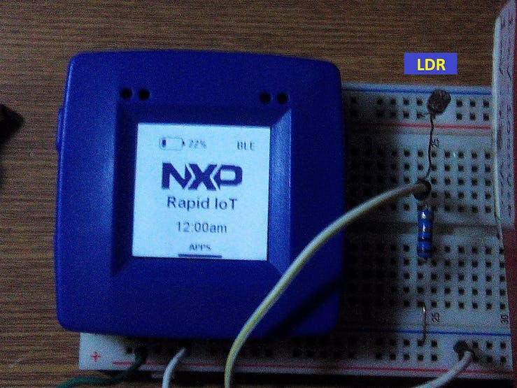 Using a NXP Rapid IoT as lighting calibrator