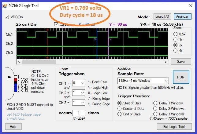 VR1 = 0.769 volts, duty cycle = 55%