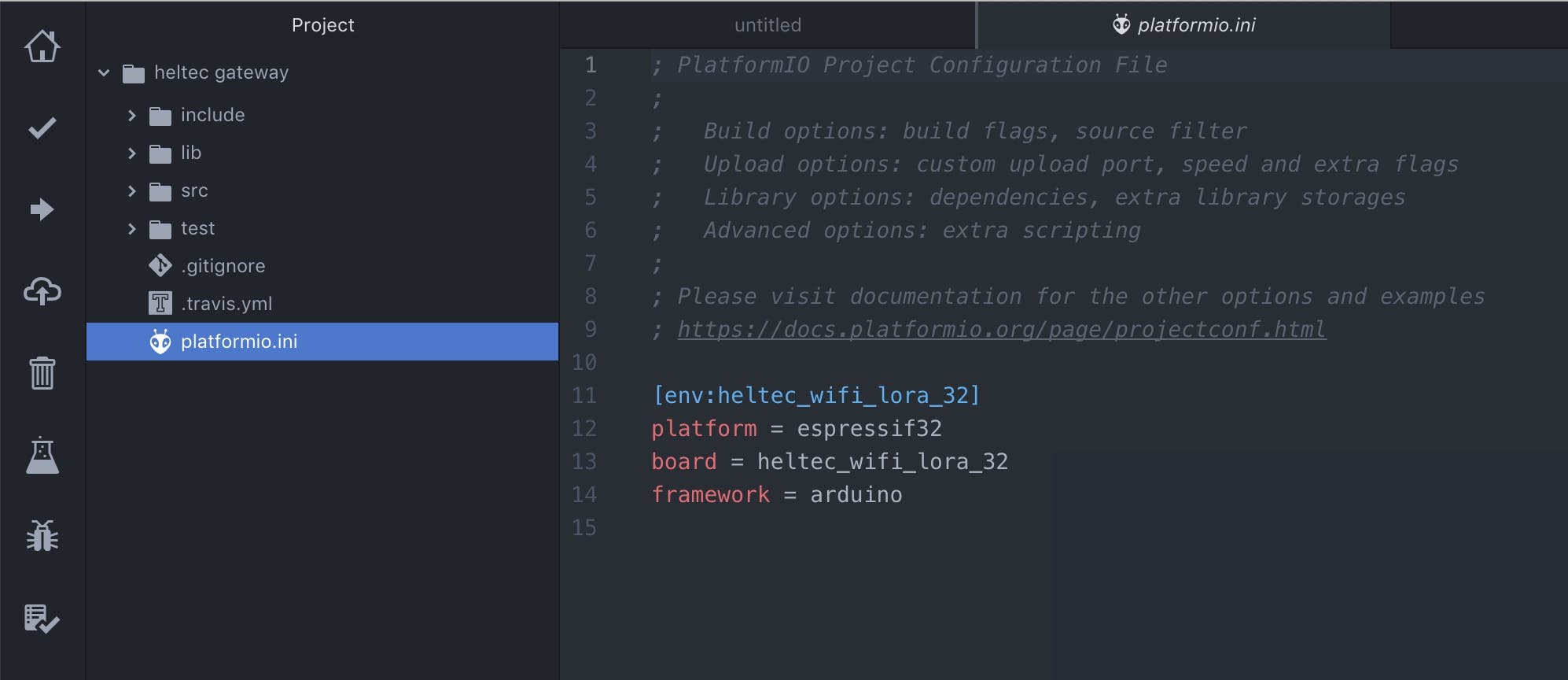 new project initialized