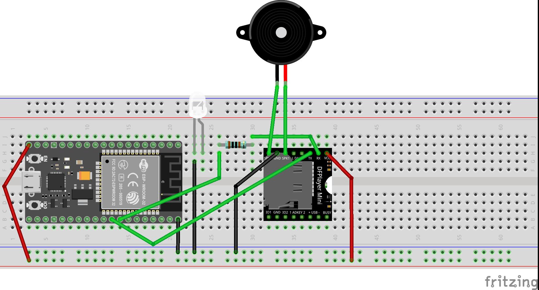 WiFi Doorbell with ESP32 and DFPlayer - Hackster io
