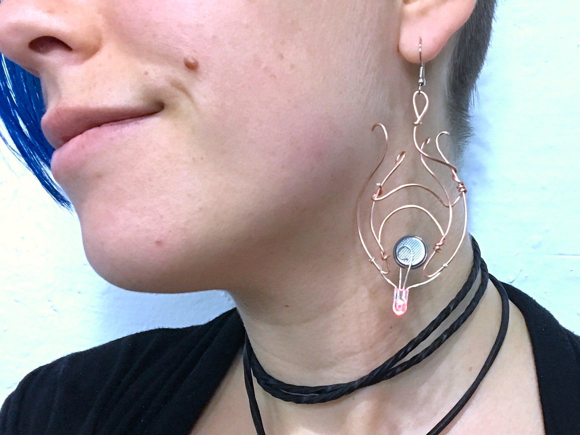 Art Nouveau Freeform Earring (No Soldering!)