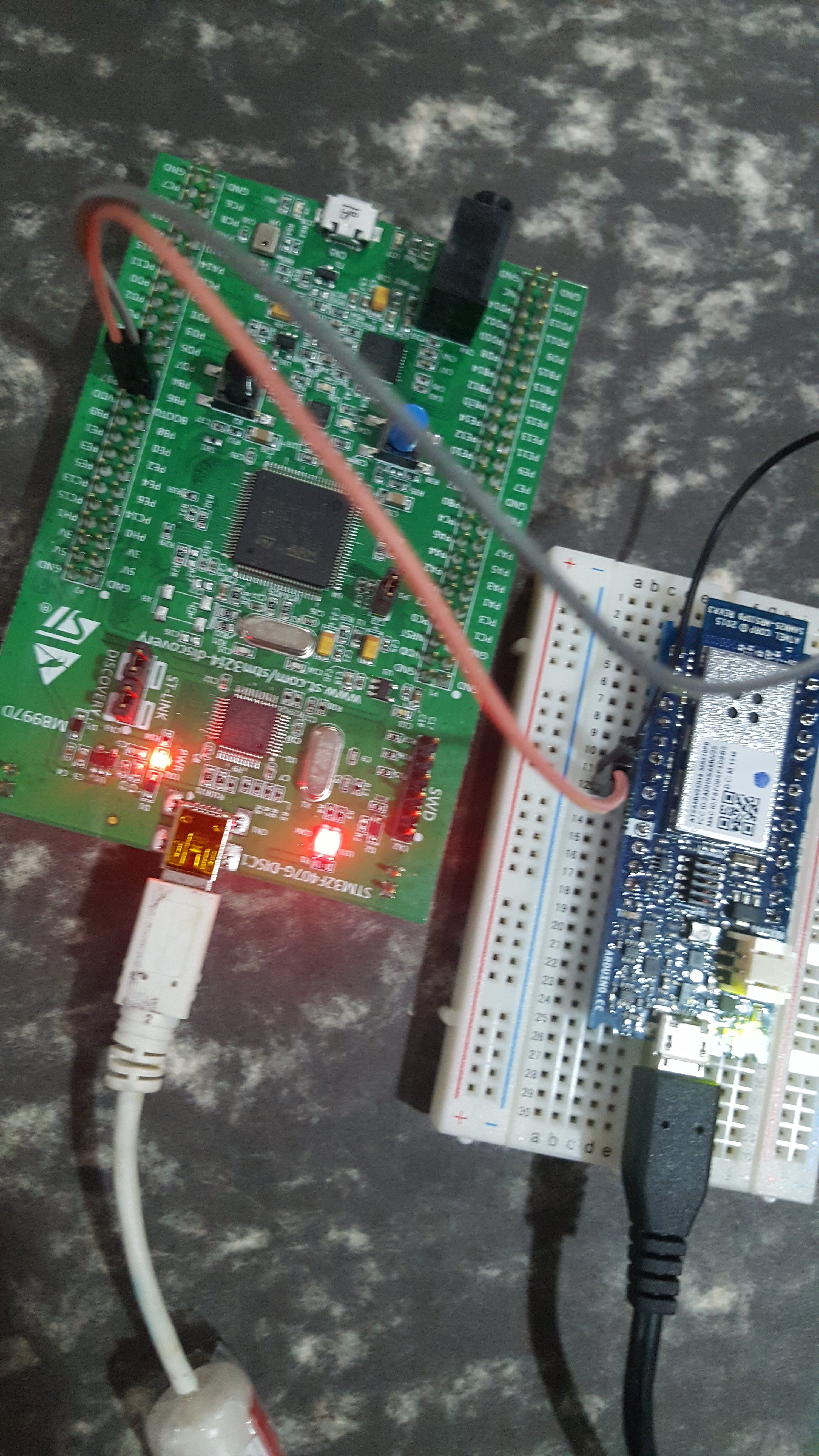 STM32F4 Discovery Board and MKR1000