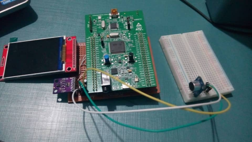Voice Effects Controlled with Gesture Motions, Ada on STM32
