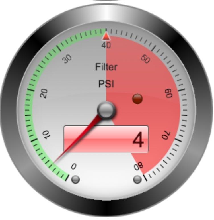Pool Filter PSI Gauge