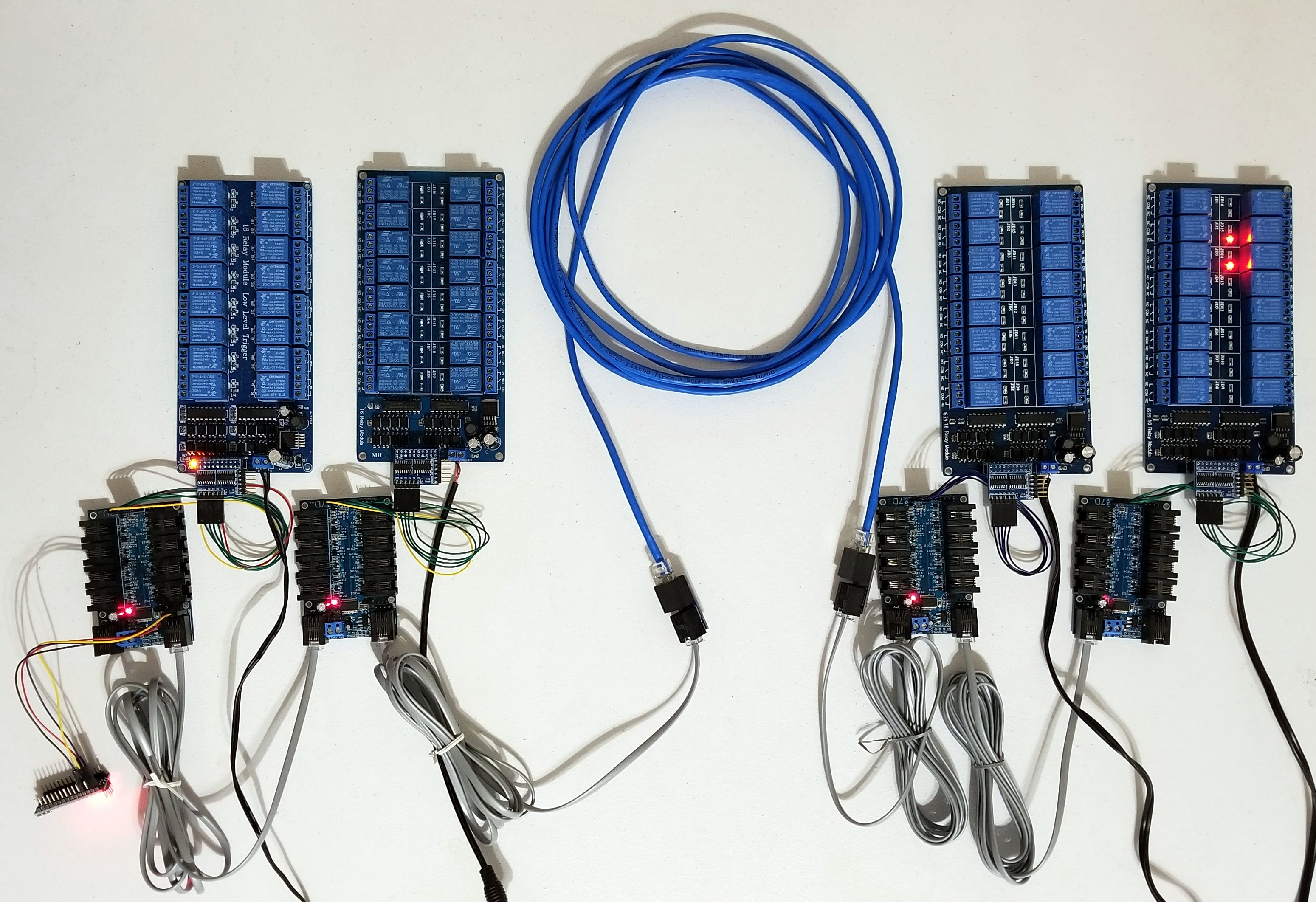 64 Relays using IO Expanders