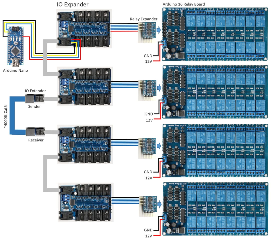 Control Up to 65,280 Relays with Your Arduino! - Arduino ... on electric motor wiring, electric fan relay mounting, electric vacuum pump wiring, electric dimmer switch wiring, electric fan thermostat wiring, electric fan relay thermostat, electric fuel pump circuit, electric brakes wiring, electric cooling fan wiring, ignition switch wiring, aftermarket electric fan wiring, electric power wiring, electric gas valve wiring, electric fuel pump relay kit, electric fuse box wiring, electric fans for cars, electric oil cooler wiring, electric fan wiring harness, automotive electric fan wiring, electric fan wiring diagram,