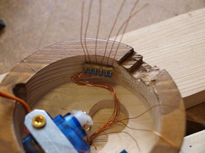 Detail of current limiting resistors board