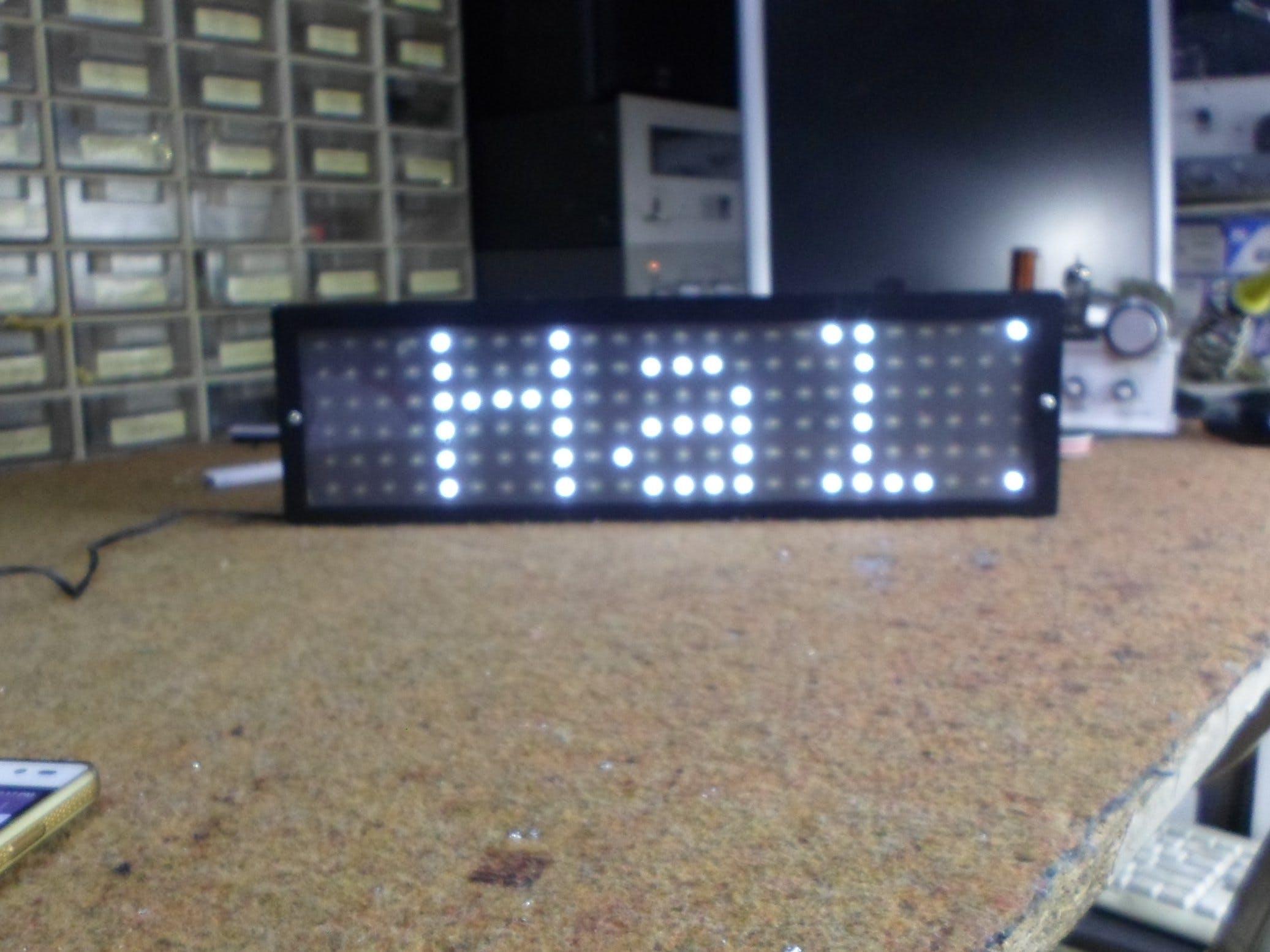 DIY 24x6 (144 Big LEDs) Matrix with Scrolling Text
