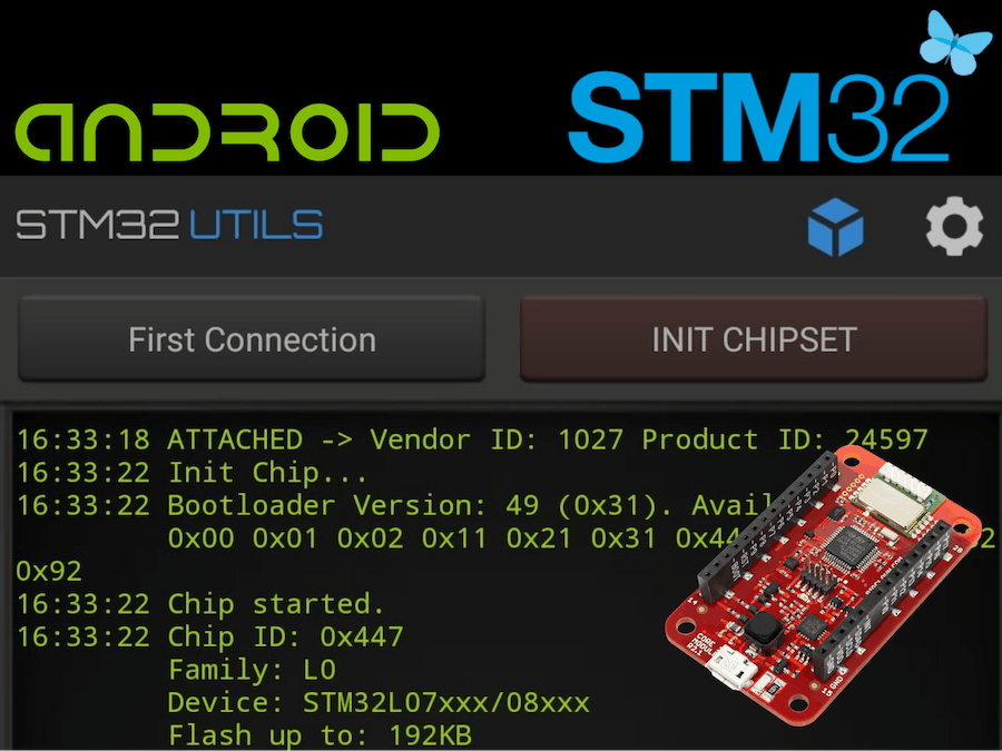 Use Android to Flash STM32 BigClown Modules