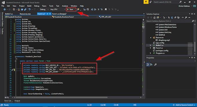 Modify API Credentials and Run