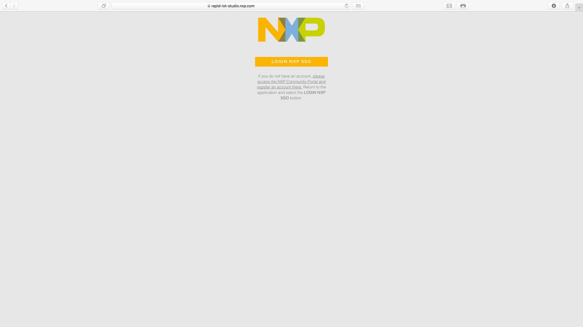 sign in with your NXP Account