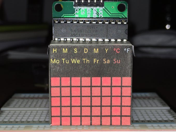 LED Matrix with Paper Template