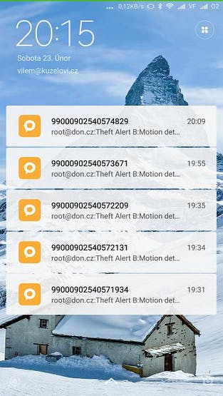 Theft Alert SMSes during testing