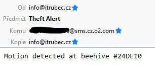 Theft Alert received via e-mail