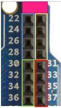 Motor Driver Pins 22 - 37