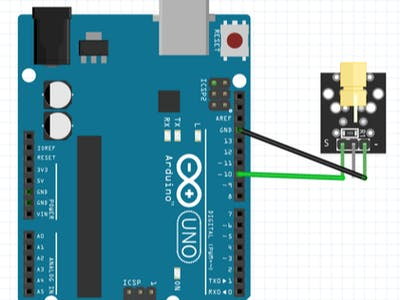 Connection of Laser module with Arduino