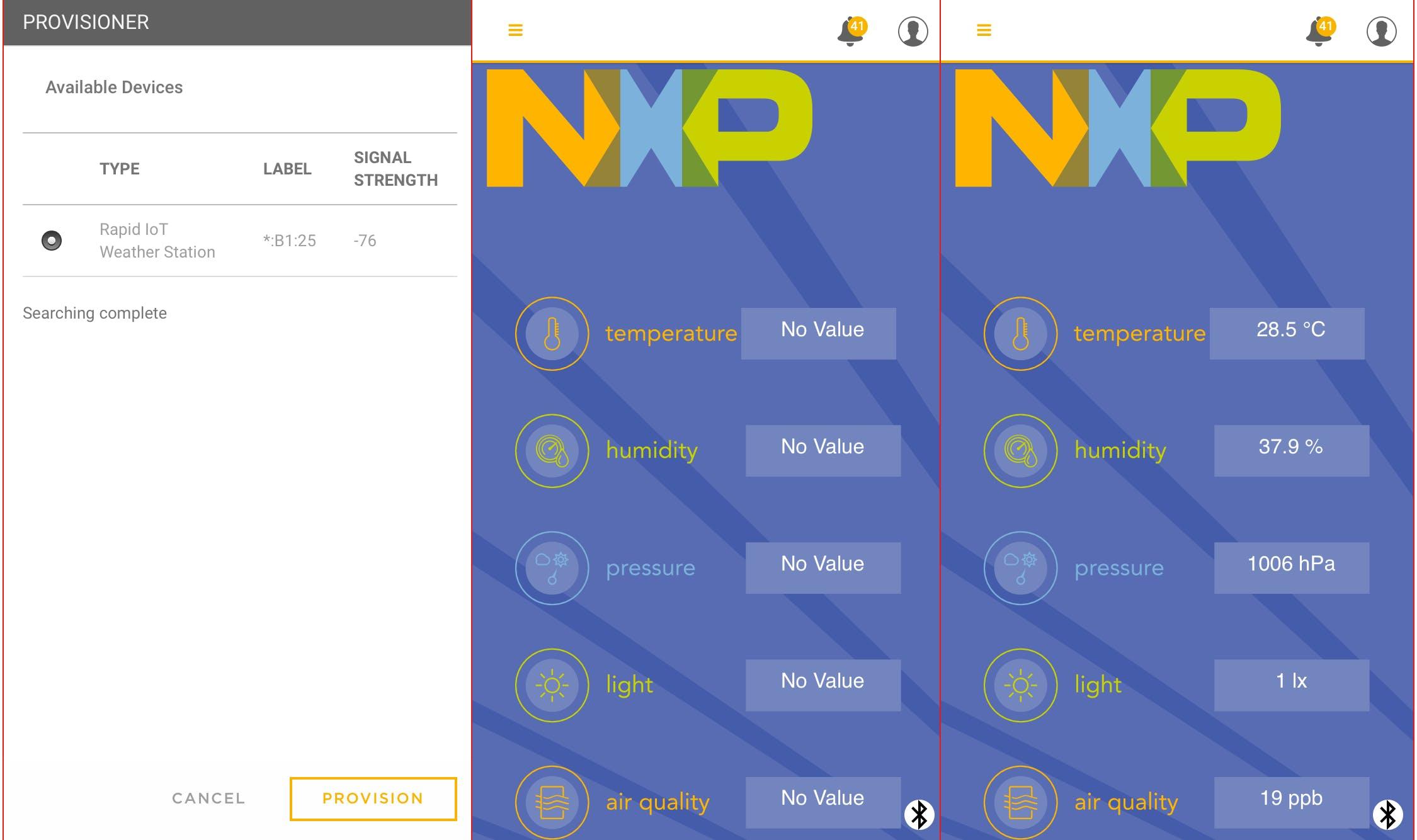 NXP Rapid IoT App
