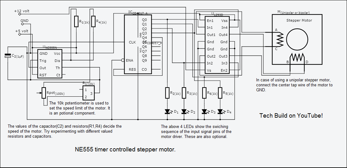 Stepper Motor Speed Control with an NE555 Timer - ster.io on