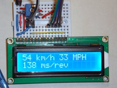 Arduino + LCD Display as a Bicycle Speedometer