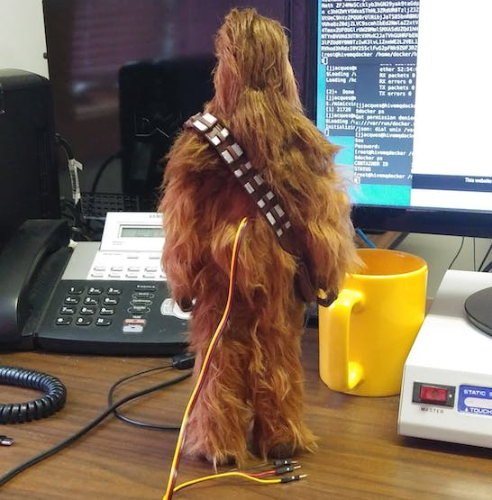 Now Chewie has a data port
