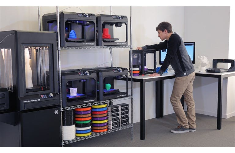 Modern makerspace set-up