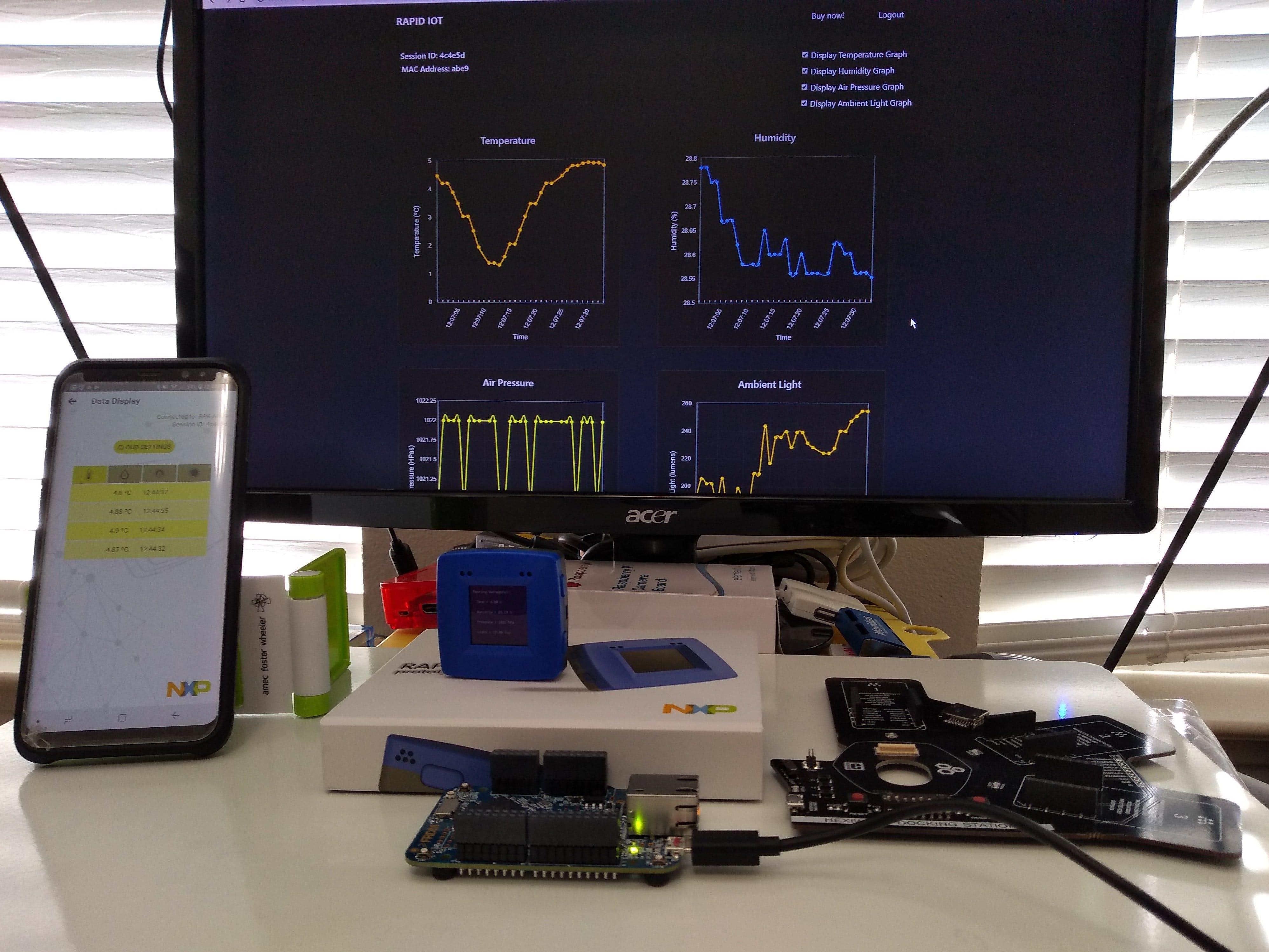 Smart Sensing on the NXP Rapid IoT Kit (ARM NN at the Edge)