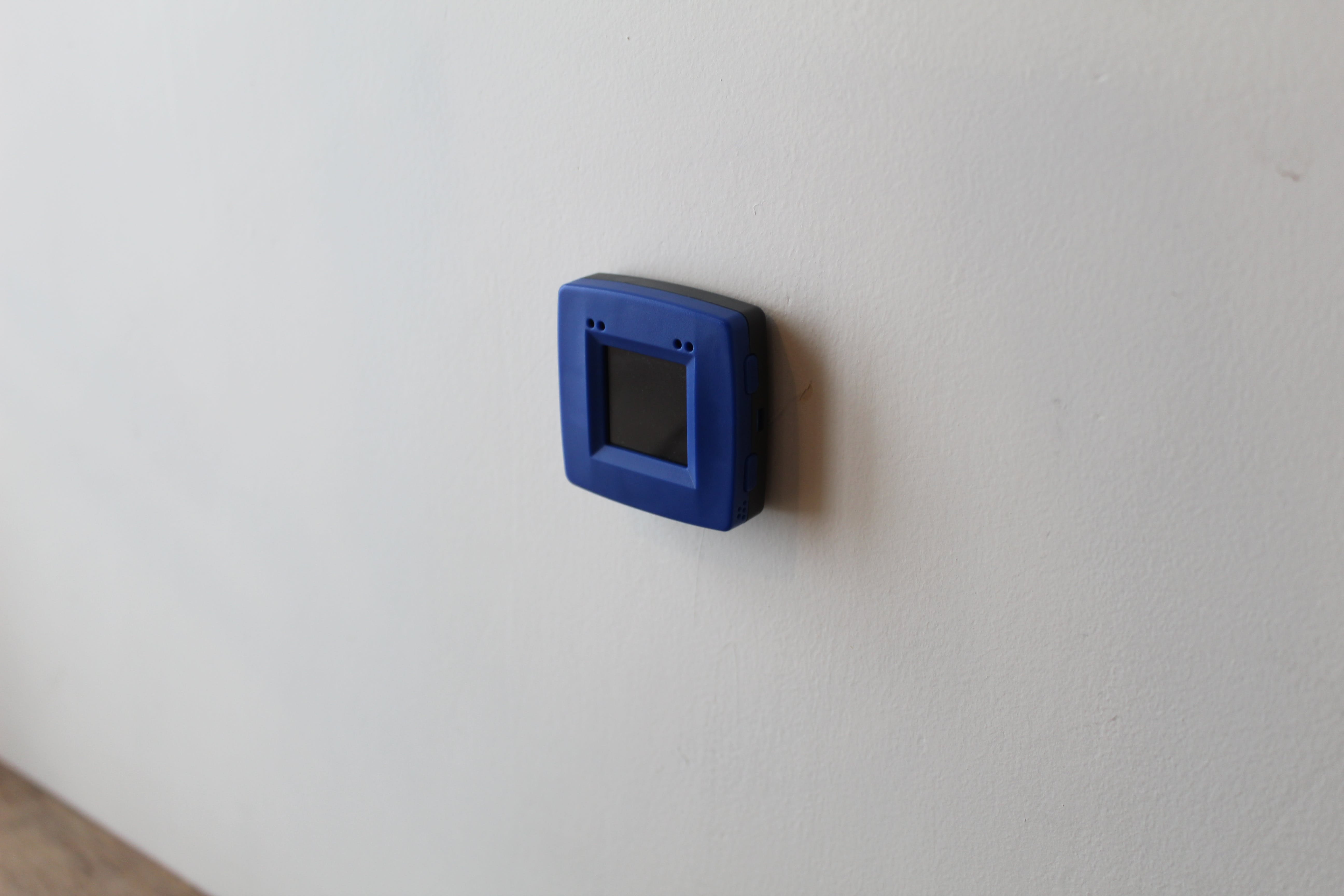 NXP module mounted to the wall in the workspace