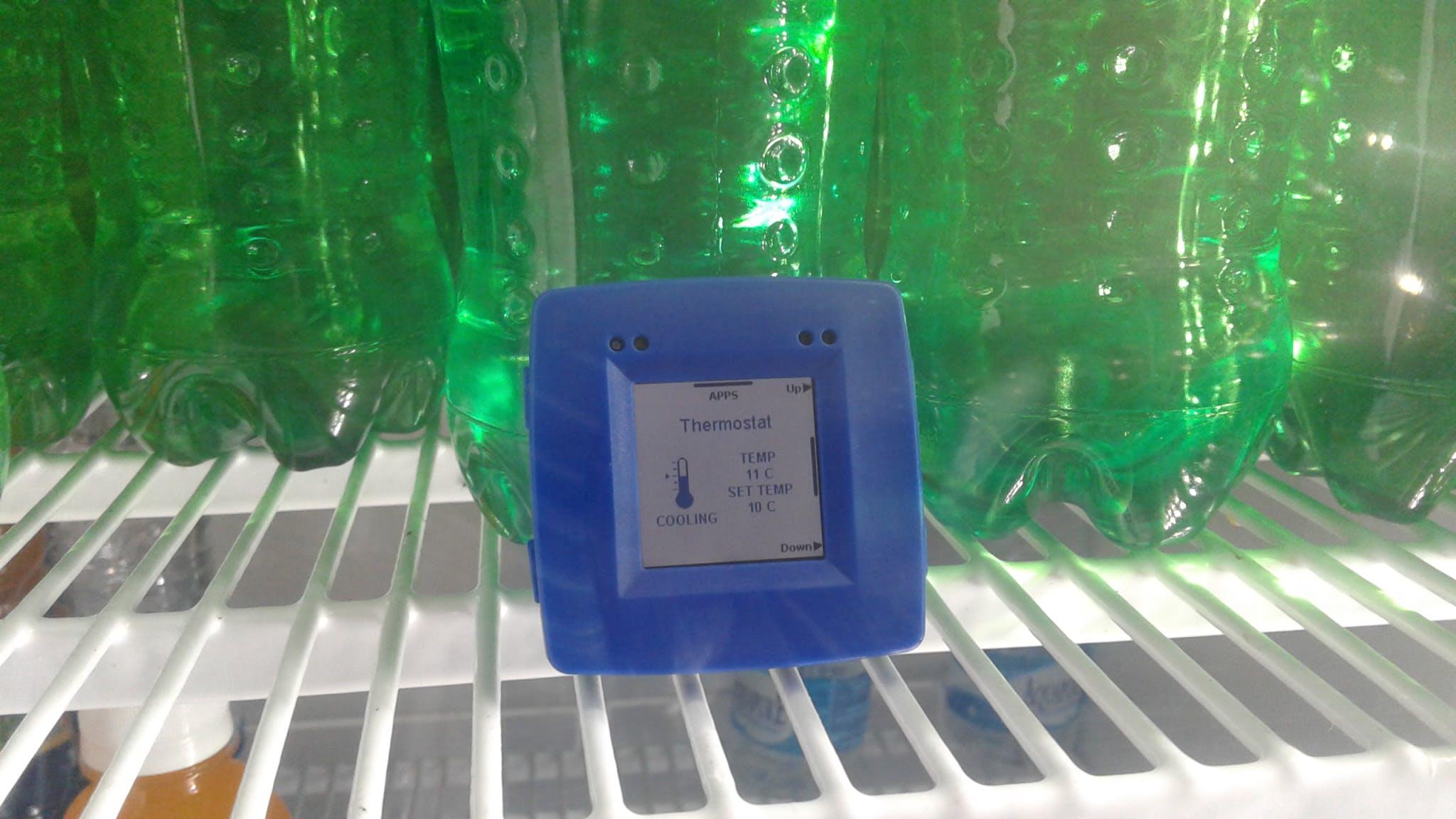 Temperature inside the refrigerator ware house